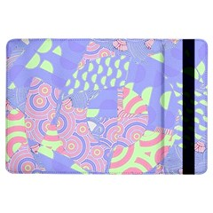 Girls Bright Pastel Abstract Blue Pink Green Apple Ipad Air Flip Case