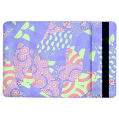 Girls Bright Pastel Abstract Blue Pink Green Apple Ipad Air 2 Flip Case