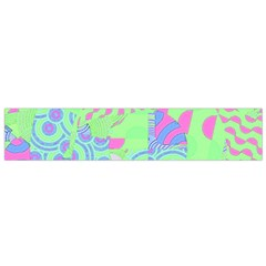 Tropical Neon Green Purple Blue Flano Scarf (Small)