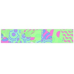 Tropical Neon Green Purple Blue Flano Scarf (Large)