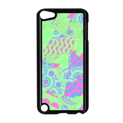 Tropical Neon Green Purple Blue Apple Ipod Touch 5 Case (black)