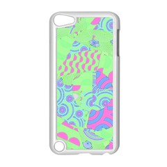 Tropical Neon Green Purple Blue Apple Ipod Touch 5 Case (white)