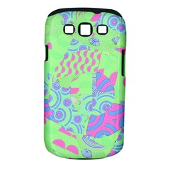 Tropical Neon Green Purple Blue Samsung Galaxy S III Classic Hardshell Case (PC+Silicone)