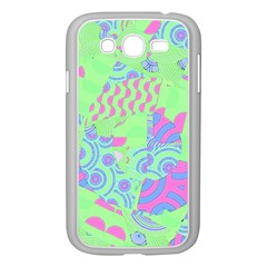 Tropical Neon Green Purple Blue Samsung Galaxy Grand Duos I9082 Case (white)
