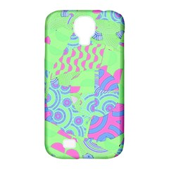 Tropical Neon Green Purple Blue Samsung Galaxy S4 Classic Hardshell Case (pc+silicone)