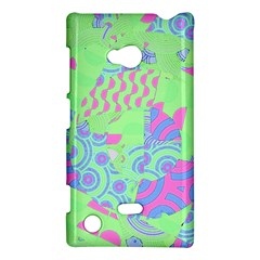 Tropical Neon Green Purple Blue Nokia Lumia 720 Hardshell Case