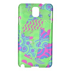 Tropical Neon Green Purple Blue Samsung Galaxy Note 3 N9005 Hardshell Case