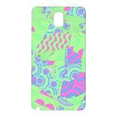 Tropical Neon Green Purple Blue Samsung Galaxy Note 3 N9005 Hardshell Back Case
