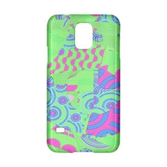 Tropical Neon Green Purple Blue Samsung Galaxy S5 Hardshell Case