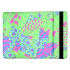 Tropical Neon Green Purple Blue Samsung Galaxy Tab Pro 12 2  Flip Case