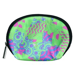 Tropical Neon Green Purple Blue Accessory Pouch (Medium)