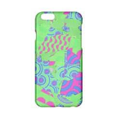 Tropical Neon Green Purple Blue Apple iPhone 6/6S Hardshell Case
