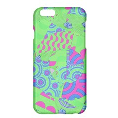 Tropical Neon Green Purple Blue Apple Iphone 6 Plus/6s Plus Hardshell Case