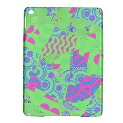 Tropical Neon Green Purple Blue Apple Ipad Air 2 Hardshell Case