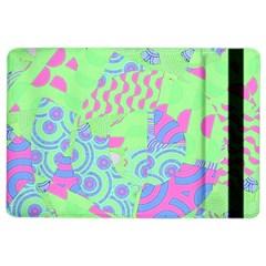 Tropical Neon Green Purple Blue Apple iPad Air 2 Flip Case
