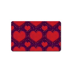 Galaxy Hearts Grunge Style Pattern Magnet (name Card)