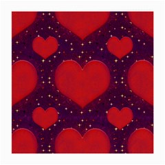 Galaxy Hearts Grunge Style Pattern Glasses Cloth (medium, Two Sided)