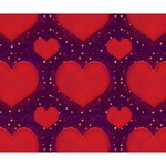 Galaxy Hearts Grunge Style Pattern Deluxe Canvas 14  x 11  (Framed) 14  x 11  x 1.5  Stretched Canvas