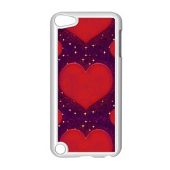 Galaxy Hearts Grunge Style Pattern Apple iPod Touch 5 Case (White)