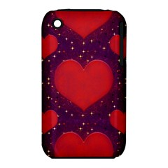 Galaxy Hearts Grunge Style Pattern Apple iPhone 3G/3GS Hardshell Case (PC+Silicone)