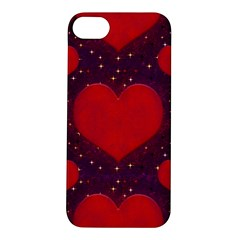 Galaxy Hearts Grunge Style Pattern Apple iPhone 5S Hardshell Case