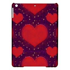 Galaxy Hearts Grunge Style Pattern Apple iPad Air Hardshell Case