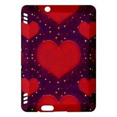 Galaxy Hearts Grunge Style Pattern Kindle Fire HDX Hardshell Case