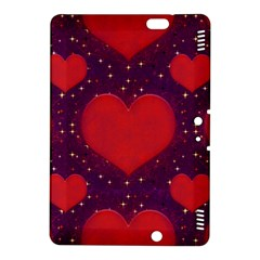 Galaxy Hearts Grunge Style Pattern Kindle Fire HDX 8.9  Hardshell Case