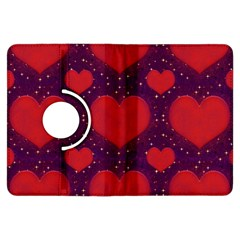 Galaxy Hearts Grunge Style Pattern Kindle Fire Hdx Flip 360 Case