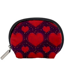 Galaxy Hearts Grunge Style Pattern Accessory Pouch (Small)