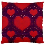 Galaxy Hearts Grunge Style Pattern Large Flano Cushion Case (One Side) Front