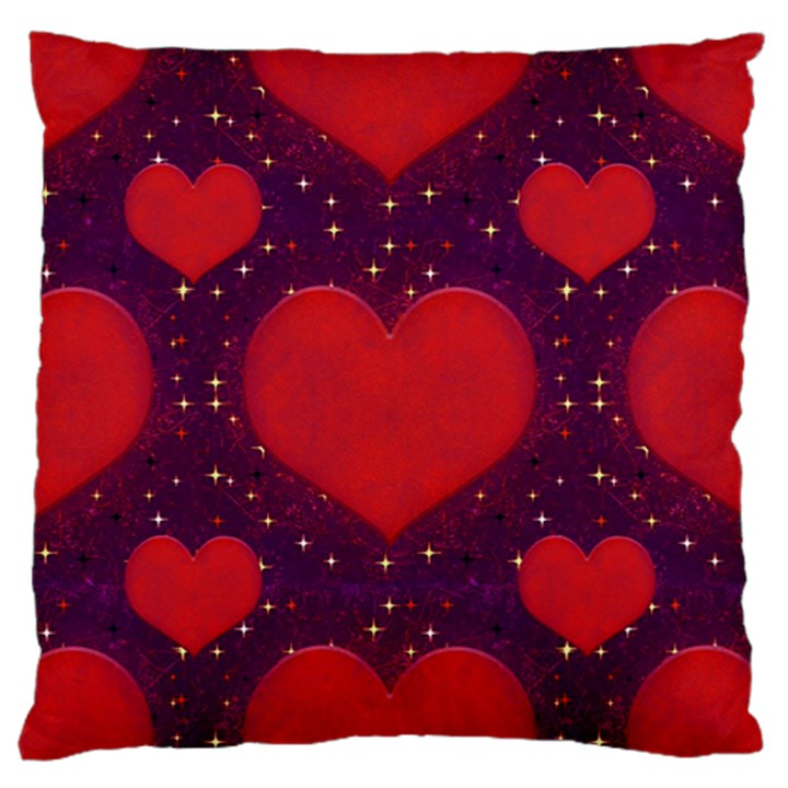 Galaxy Hearts Grunge Style Pattern Large Flano Cushion Case (One Side)