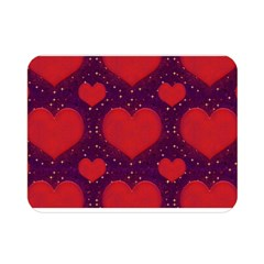 Galaxy Hearts Grunge Style Pattern Double Sided Flano Blanket (mini)