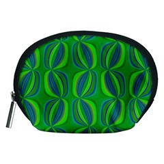 Curvy Hot Neon Green Blue Tropical Accessory Pouch (Medium)