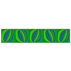 Curvy Hot Neon Green Blue Tropical Flano Scarf (Small)