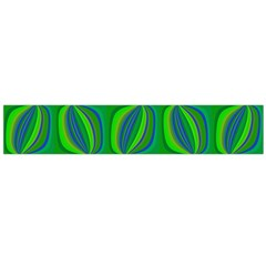 Curvy Hot Neon Green Blue Tropical Flano Scarf (Large)