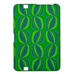 Curvy Hot Neon Green Blue Tropical Kindle Fire HD 8.9  Hardshell Case