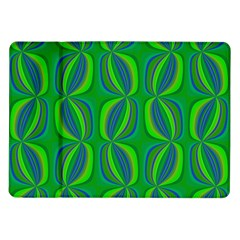 Curvy Hot Neon Green Blue Tropical Samsung Galaxy Tab 10.1  P7500 Flip Case
