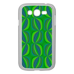 Curvy Hot Neon Green Blue Tropical Samsung Galaxy Grand DUOS I9082 Case (White)
