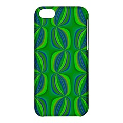 Curvy Hot Neon Green Blue Tropical Apple iPhone 5C Hardshell Case