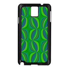 Curvy Hot Neon Green Blue Tropical Samsung Galaxy Note 3 N9005 Case (Black)