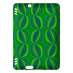 Curvy Hot Neon Green Blue Tropical Kindle Fire HDX Hardshell Case