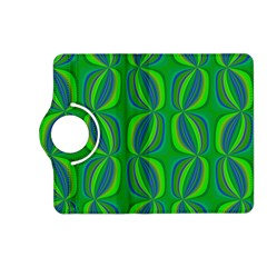 Curvy Hot Neon Green Blue Tropical Kindle Fire HD (2013) Flip 360 Case