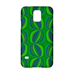 Curvy Hot Neon Green Blue Tropical Samsung Galaxy S5 Hardshell Case