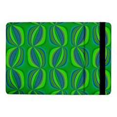 Curvy Hot Neon Green Blue Tropical Samsung Galaxy Tab Pro 10.1  Flip Case