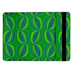 Curvy Hot Neon Green Blue Tropical Samsung Galaxy Tab Pro 12.2  Flip Case