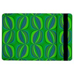 Curvy Hot Neon Green Blue Tropical Apple iPad Air 2 Flip Case