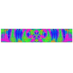 Neon Abstract Circles Flano Scarf (Large)