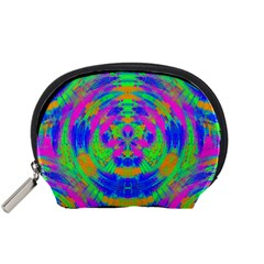 Neon Abstract Circles Accessory Pouch (Small)