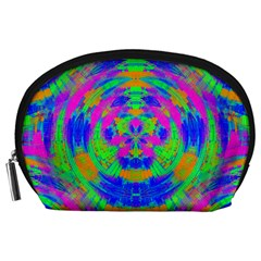 Neon Abstract Circles Accessory Pouch (Large)
